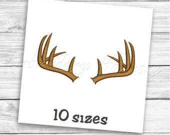 27f8485d033eb Deer antlers embroidery design - 10 SIZES machine embroidery file - INSTANT  DOWNLOAD