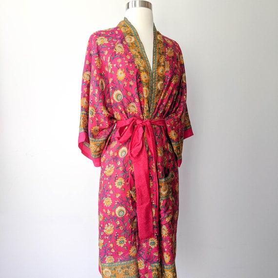Kimono Robe, Feminine Kimono, Dressing Robe, Bohem