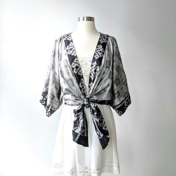 14 brand new Vintage 100/% Pure Silk Ladies Dark Blue Top Size XL