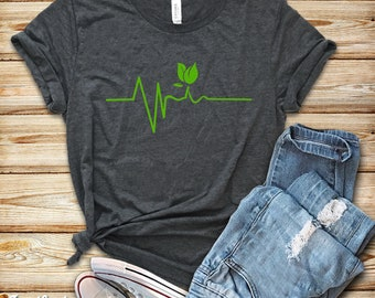 ca53c44c4ea Vegan Heartbeat   Shirt   Tank Top   Hoodie   Vegan Shirt   Vegan    Vegetarian Shirt   Vegan T-shirt   Vegan Gift   Plant Based Shirt