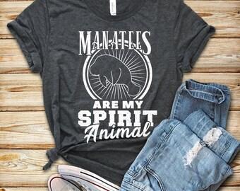faef777da Manatee Shirt, Manatees Lover, Manatee Art Gift, Cute Manatee Shirt, Spirit  Animal, Gift For Women, Love Manatees, Womens Graphic Tee