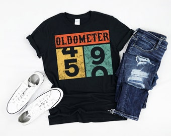 4edafb7d 50th Birthday Gift for Man Best of 1969 Oldometer Vintage 1969 born in 1969 50  years T-Shirt Short-Sleeve Unisex T-Shirt