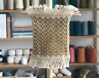 Mini Weaving - Yellow Diamonds