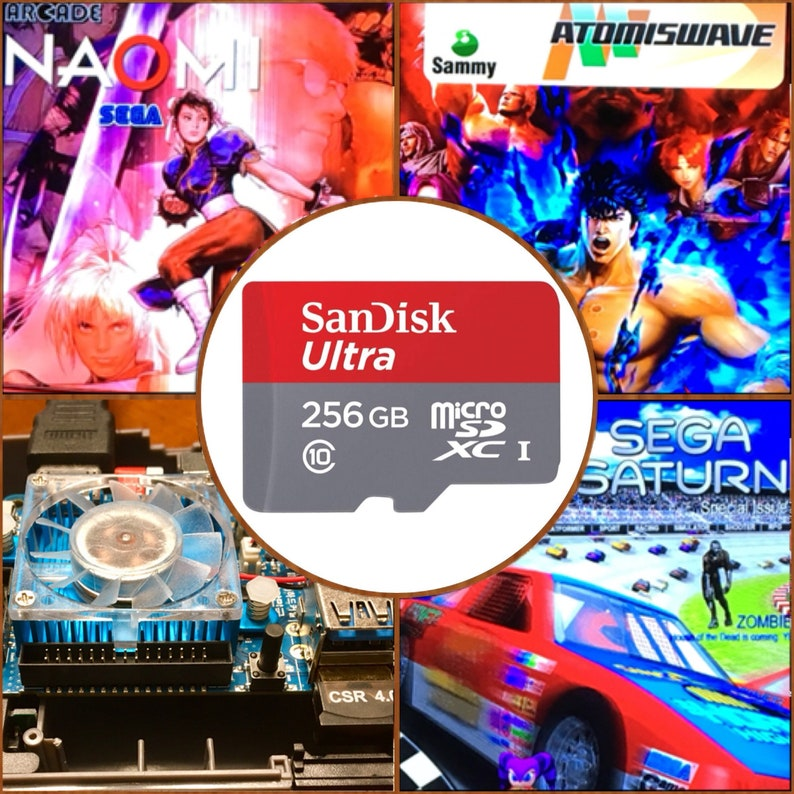 256 GB ODROID XU4, latest Ora v1 65 Retropie SD Card - Sega Saturn, Naomi,  Atomiswave    3D Boxart, Video Previews, brand-new build!!!