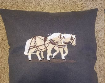 Draft Horse Pillow