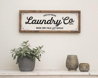 "Farmhouse Design Sign ""Laundry"""