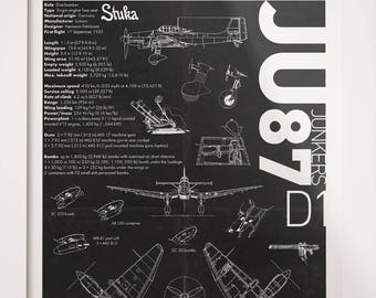ldownloadl junkers ju 87 airplane aviation a3 poster