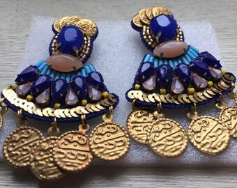 Belly Dancer Coin Earrings