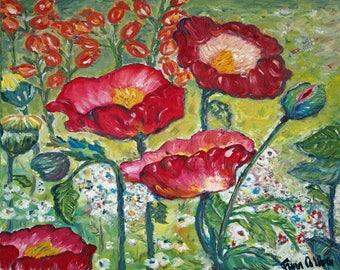 Big Poppies - Trivet/Coaster/Plaque