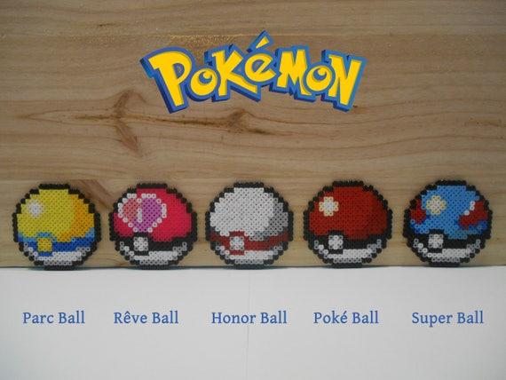 Pokemon Pokeball Amant Magnet Perles Hama Pixel Art Etsy