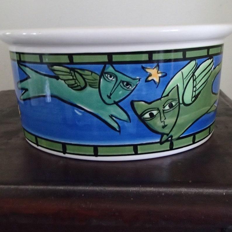 Ursula Dodge Majesty Flying Angel Green Cat Dish