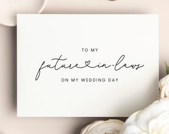 From Daughter In Law To My Mother In Law and To My Father In Law On My Wedding Day Card DT2467INL To My In Laws On My Wedding Day Card