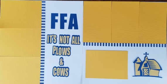 Ffa Future Farmers Of America Scrapbook Layout Ffa Etsy