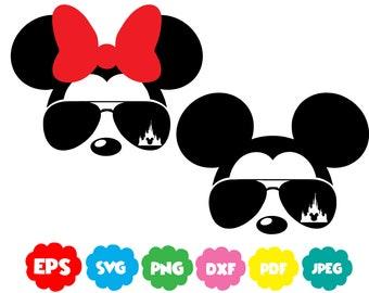 0ed95788c1 Disney Mickey And Minnie Mouse Aviators Sunglasses Disney
