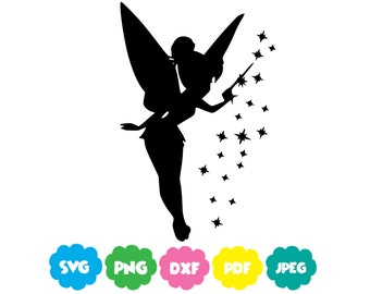 Tinkerbell Svg, Peter pan Tinkerbell SVG Cut File for Cricut Cuttable Silhouette Disney Clip art SVG-PNG-Dxf-Pdf-Jpeg instant download