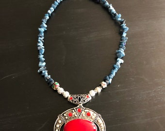 Dyed Quartzite & Red Turquoise