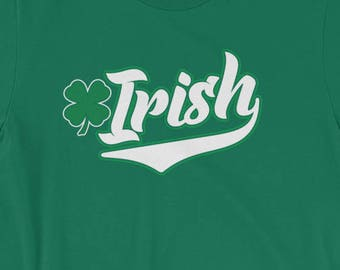 1840cae9 Items similar to SHAMROCK V Neck T Shirt Cleavage Sexy Tee 4 Leaf ...