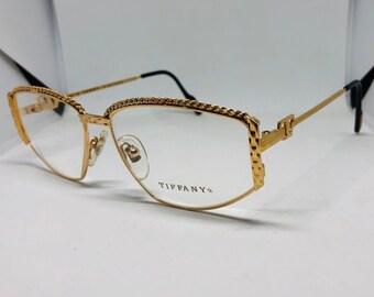 4844c9f968c Tiffany Gold Plated 23 kt vintage eyeglasses mod T1   01