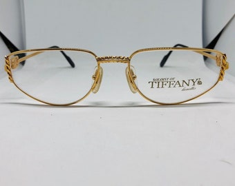 b6c08878b72 Tiffany Gold Plated 23 kt vintage eyeglasses mod T3  01