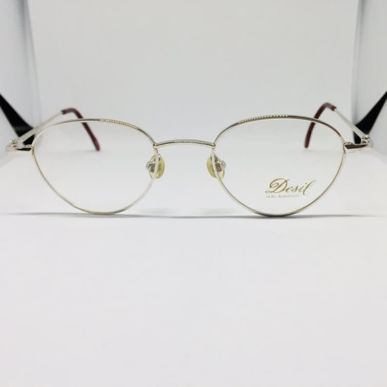 6ceedff29d Desil Oro 14 kt occhiali da vista vintage | Etsy