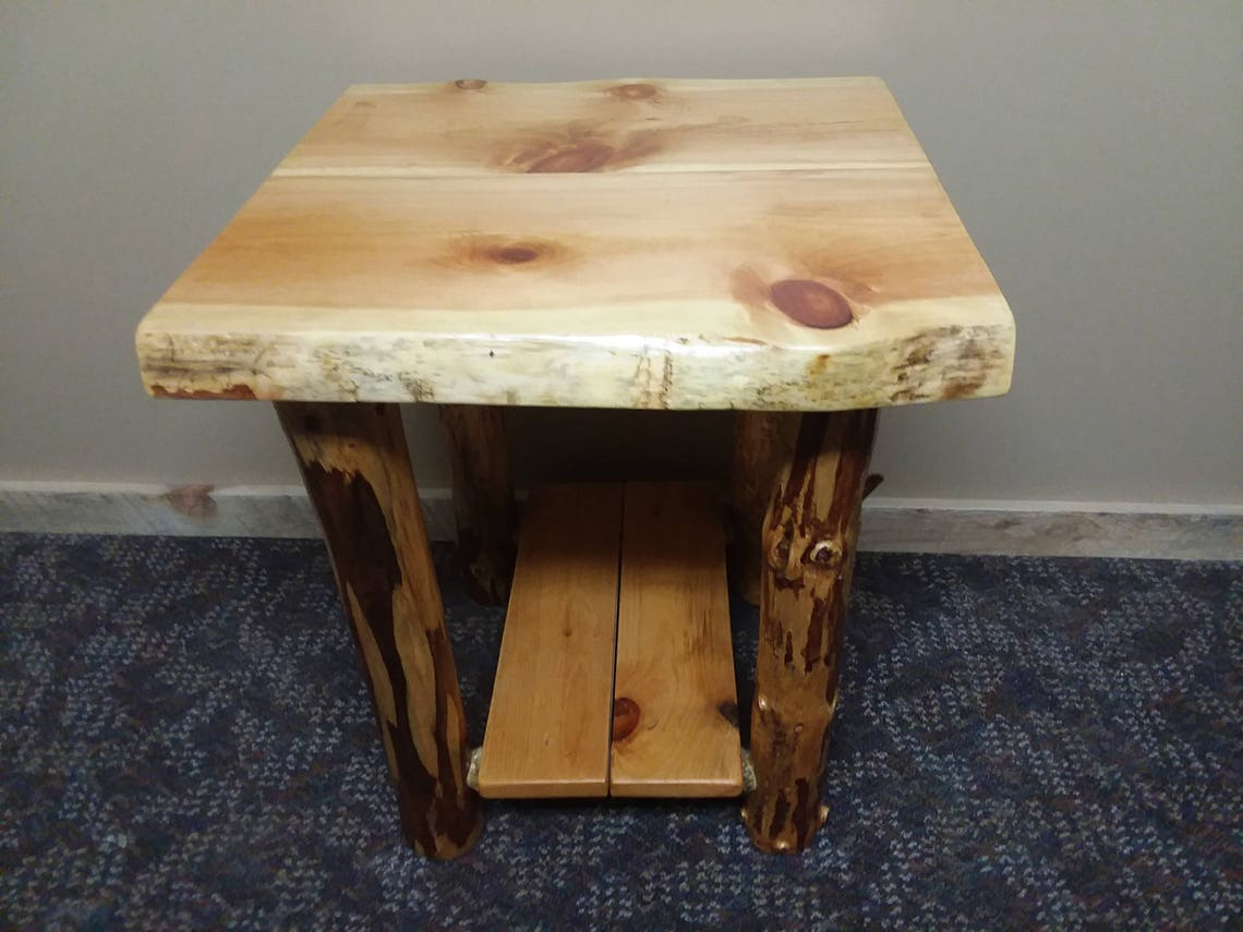 Rustic End Table | Log End Table | Lodge End Table
