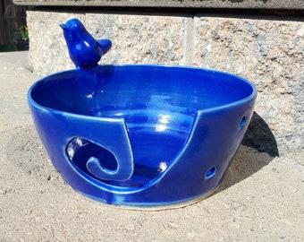 Electric Blue Yarn Bowl