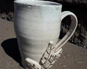 White Feather Mug