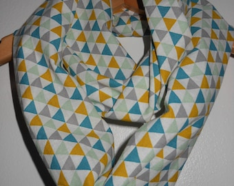 Triangles baby/child infinity scarf.