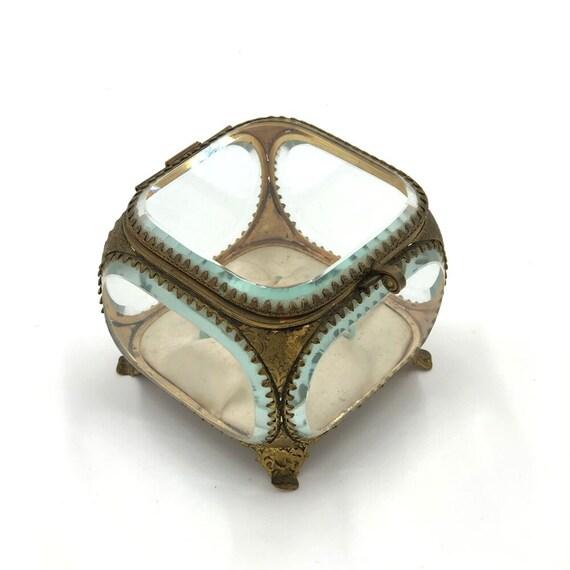 Vintage French Ormolu Jewelry Box