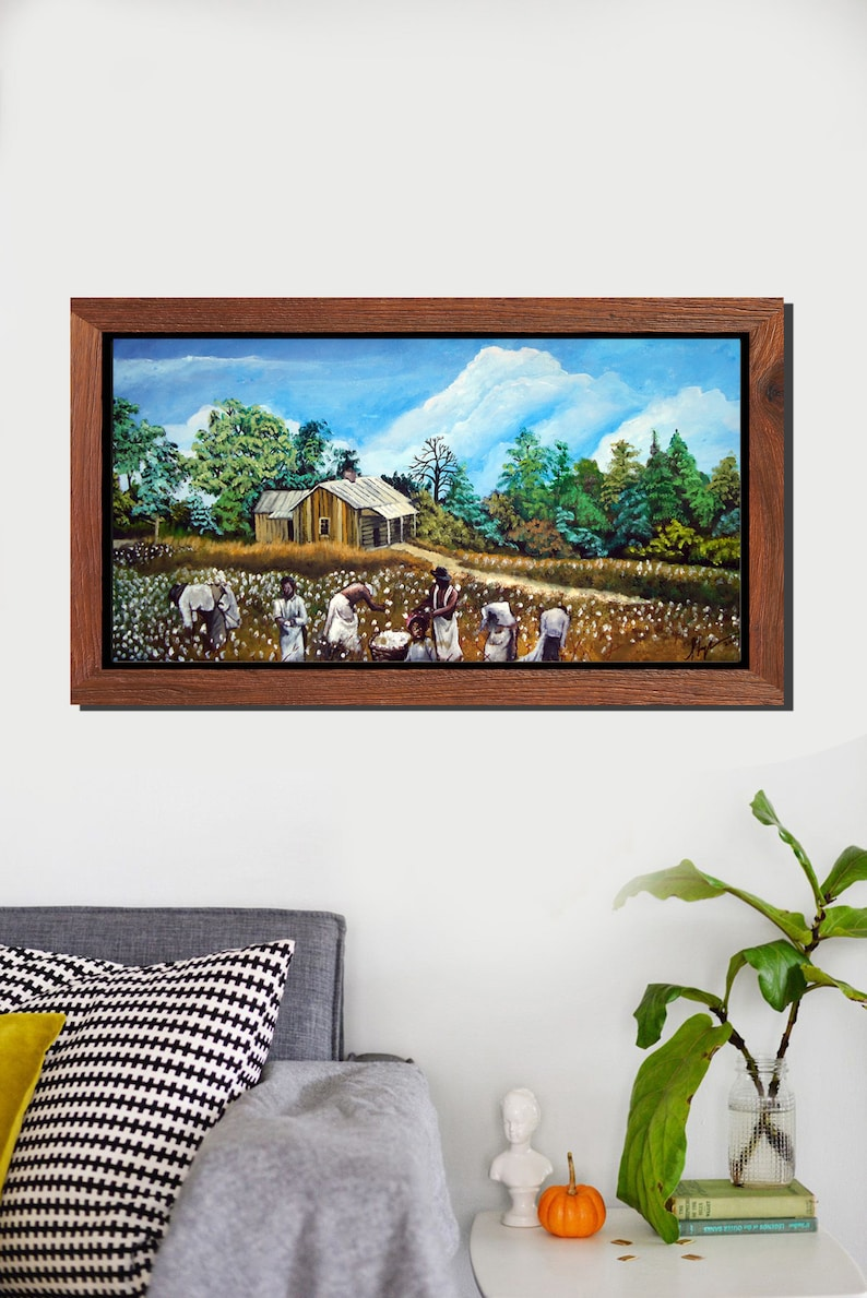 Original Art The Harvest Collection 2 Canvas Painting Giclee Print Hand Painted Embellished with Acrylics unstretched canvas oil