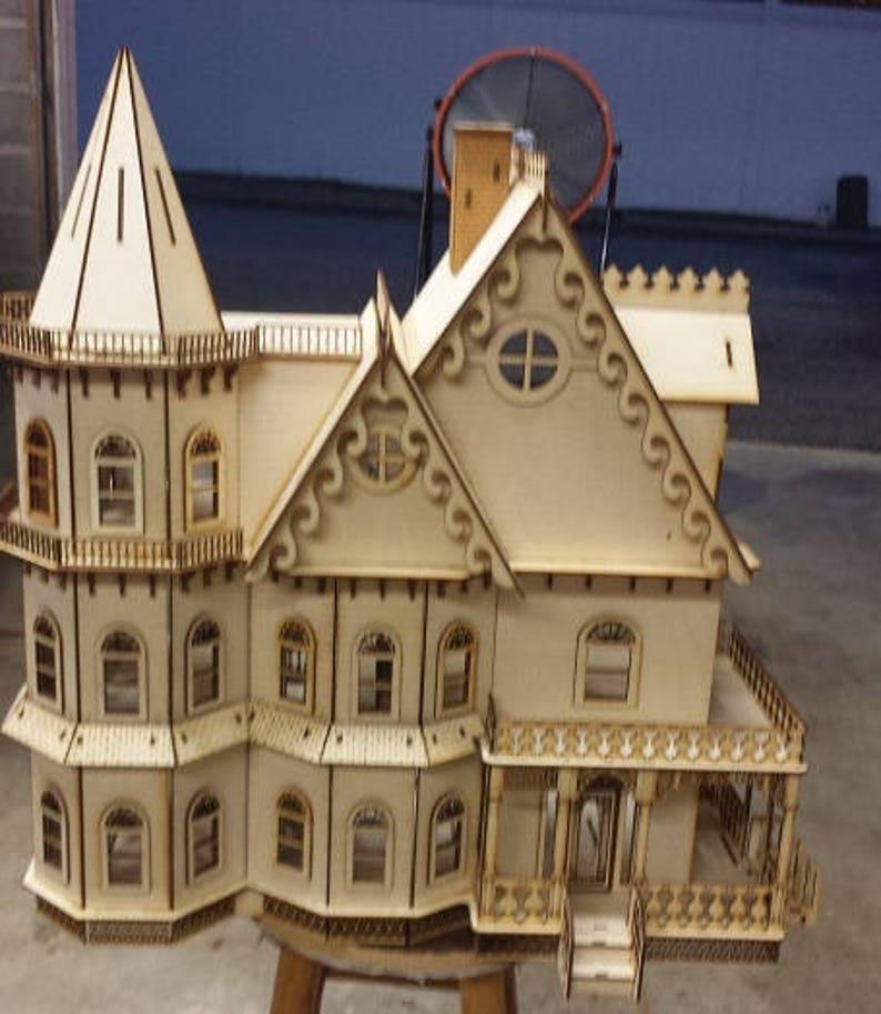 1:12 Scale Dollhouse Miniature Gable Trim