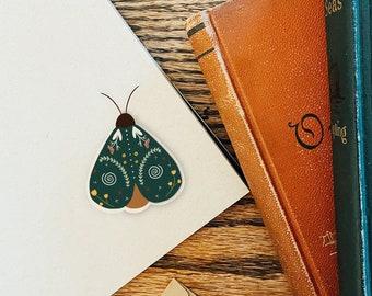Moth Sticker, Woodland Stickers, Green Moth Vinyl Stickers, Cottagecore Stickers, Forestcore, Nature Stickers