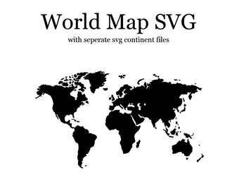 Continent svg etsy world map svg continent file svg bundle clipart svg file travel world map vector decal files sublimation design gumiabroncs Images