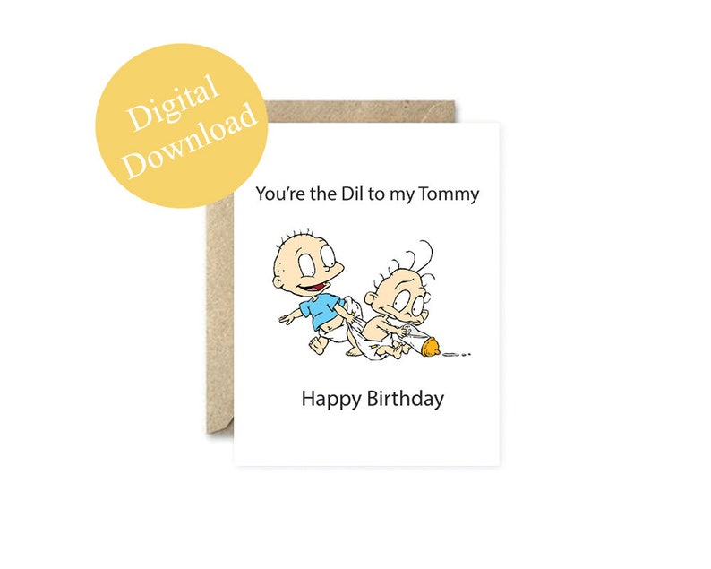 Printable Cards Rugrats Brother Birthday Card