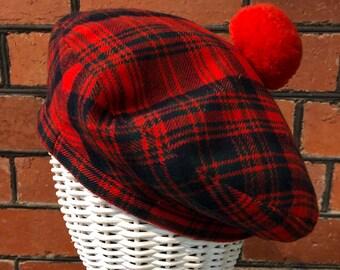 1fd5b7ca0d94e Vintage Tartan wool beret Made by Scotch House