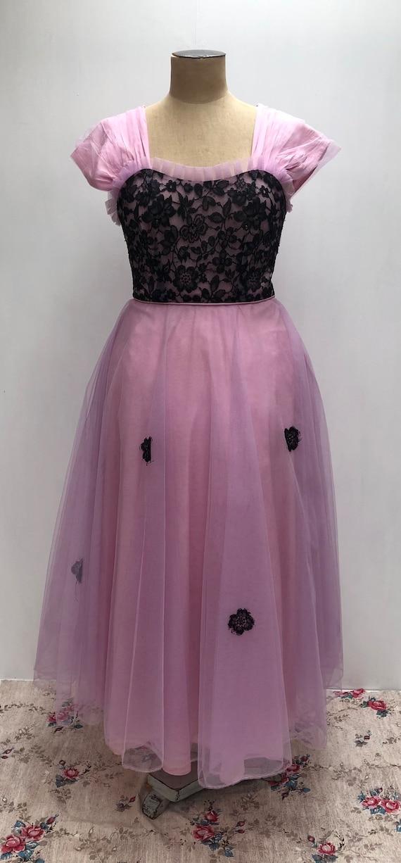 50s lace evening dress - image 6