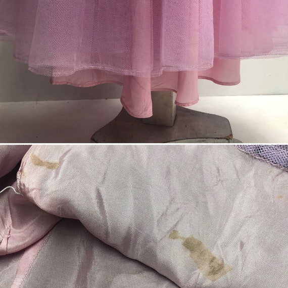 50s lace evening dress - image 10