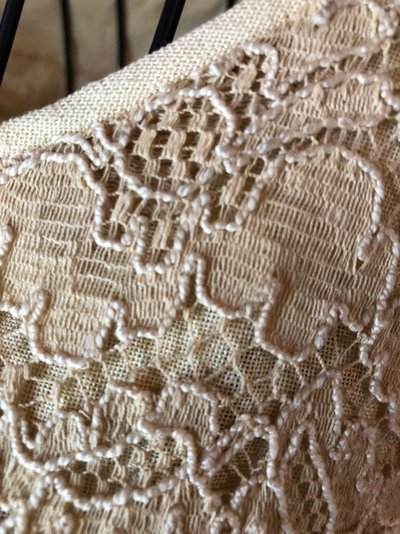 60s Cream lace dress with metal zipper - image 10