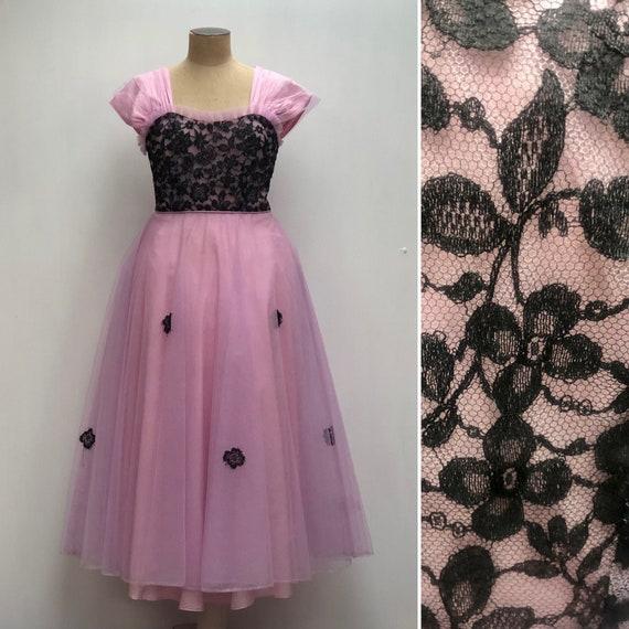 50s lace evening dress - image 1