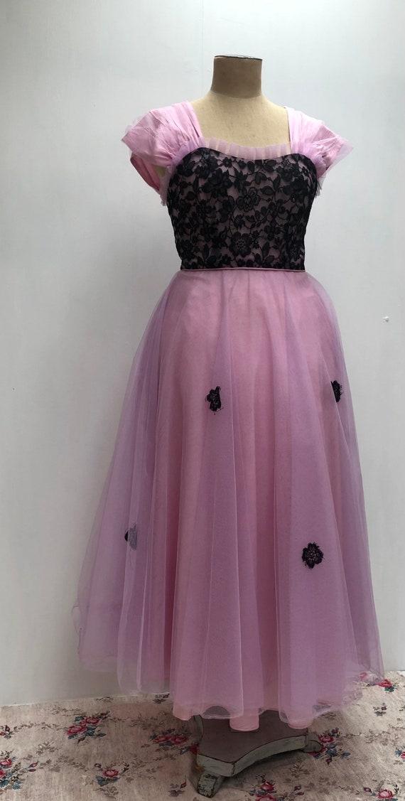 50s lace evening dress - image 3