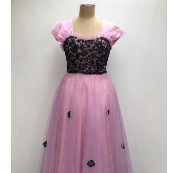 50s lace evening dress - image 5