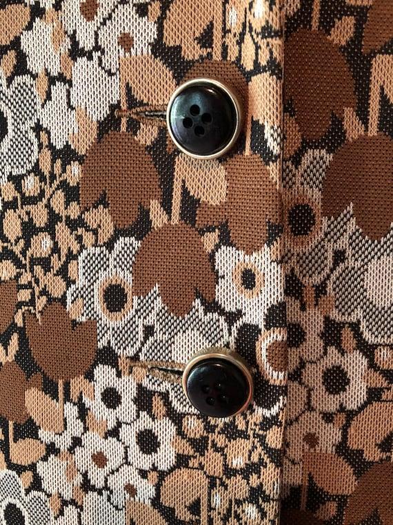 Vintage 1960s ladies suit.  Two piece set.  Brown… - image 10