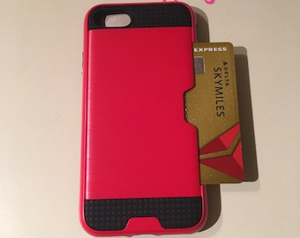 iPhone 8/7 protective case with credit card holder