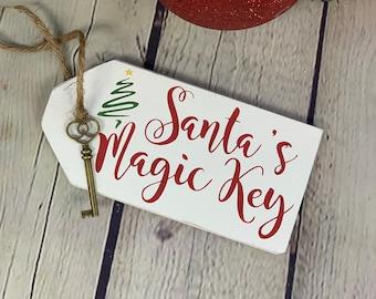 Personalised Magic Santa Key in Engraved Wooden Box