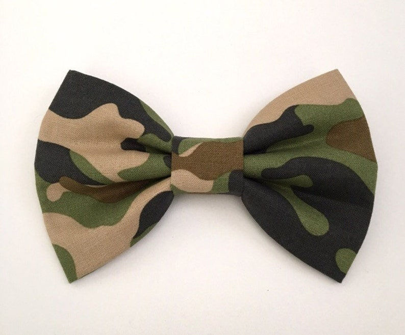 Camouflage Dog Bow Tie