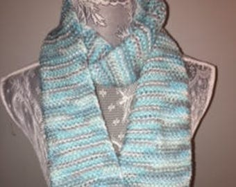 Light Blue Ombre Scarf