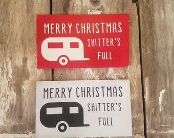 Sassy hand painted holiday sign