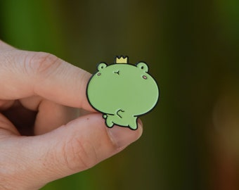 Dancing Frog Aminal Soft Enamel Pin