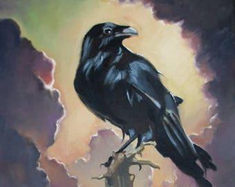 "8"" x 10"" Raven & Cloud Giclee Print"