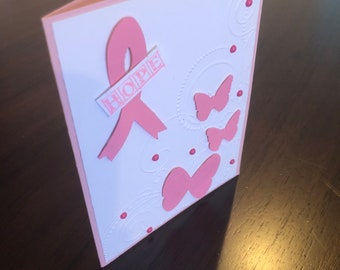 Hope, breast cancer card